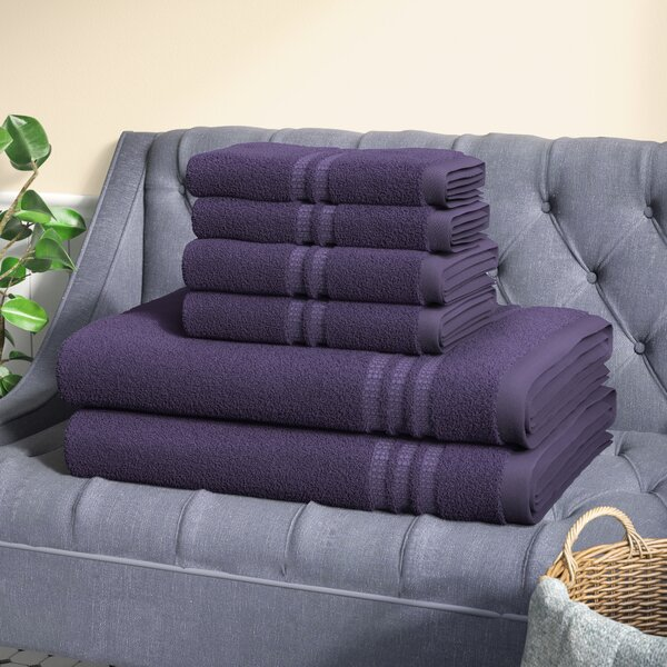 Timmons 6 Piece 100% Cotton Towel Set by Three Posts
